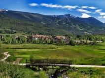 Snowmass condos. Vacation condos in Snowmass Colorado Stock Photo