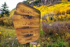 Snowmass Wilderness Royalty Free Stock Images