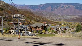 Snowmassberg Colorado Ski Mountain Summer Stock Foto's