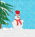 Snowmen ... The image of the snowman is widely used in periods natazlizi but has a wide scope as conceptually lends itself to many uses Royalty Free Illustration