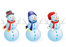Snowmen. Royalty Free Stock Images