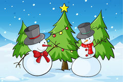 Snowmen Stock Photography