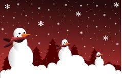Snowmen. Background representing three snowmen Stock Photography