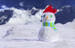 Snowmen in the blizzard Stock Images