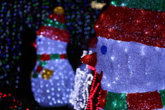Snowmen at the Canberra Sids and Kids light display. A picture of two snowmen at the SIDS and kids light display that drew international attention for breaking a Stock Images