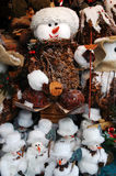 Snowmen at christmas market Stock Photography