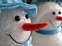 Snowmen decorations. Christmas is around the corner and the snowmen are coming out. Merry Christmas Stock Image