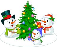 Snowmen_family Royalty Free Stock Images