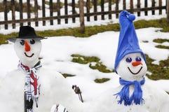 Snowmen Stock Photo