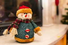 Snowmen home decoration. For christmas royalty free stock photo