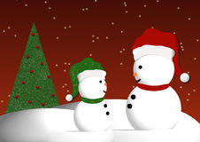 Snowmen Illustration Stock Image