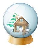 Snowmen inside the crystal ball Royalty Free Stock Photo