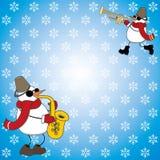 Snowmen playing music Royalty Free Stock Photos