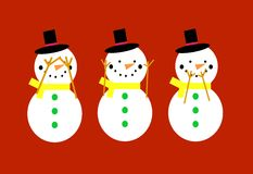 Snowmen Royalty Free Stock Photos
