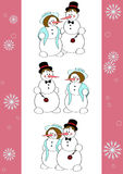 Snowmen romantic Royalty Free Stock Photos