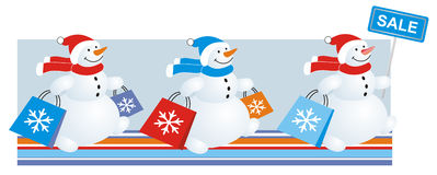 Snowmen sale Stock Images