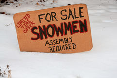 Snowmen for sale Stock Photography