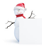 Snowmen santa hat Royalty Free Stock Photos