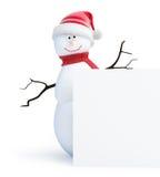 Snowmen santa hat. On a white background Royalty Free Stock Photos