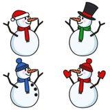 Snowmen set Stock Photos