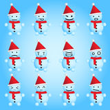 Snowmen smilies Royalty Free Stock Photography