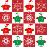 Snowmen and Snowflakes Royalty Free Stock Photo