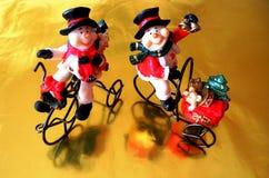 The snowmen stock photos