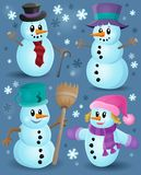 Snowmen theme collection 1 Royalty Free Stock Images