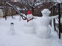 snowmen tre arkivbild