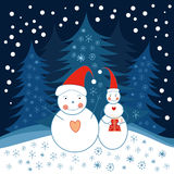 snowmen två Royaltyfri Foto