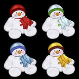 Snowmen vector Royalty Free Stock Photography