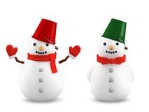 Snowmen, 3D illustration royalty free illustration