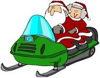 snowmobile езды бесплатная иллюстрация
