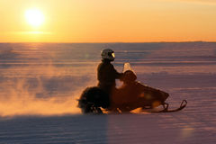 snowmobile залива 08 анкеров Стоковые Изображения RF