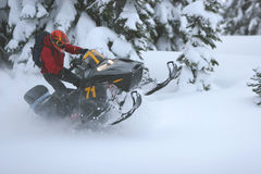 Snowmobile 1 Stock Image