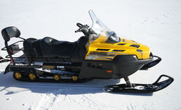 Snowmobile Stockfotos