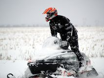 Snowmobile Images libres de droits