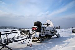 Snowmobile Photo stock