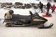 Snowmobile Royaltyfria Foton