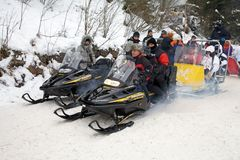 Snowmobile Stock Image