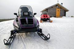 snowmobile Arkivfoto