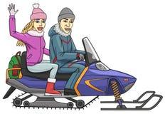 Snowmobile Fotografia Stock