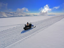 snowmobile Arkivbild