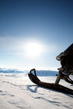 Snowmobile. Against a deep blue sky Royalty Free Stock Photos