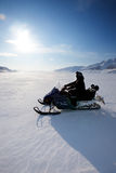 Snowmobile Stockfoto