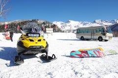 Snowmobile Fotografering för Bildbyråer