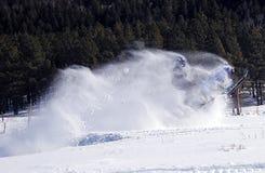 Snowmobile blast off Royalty Free Stock Photo