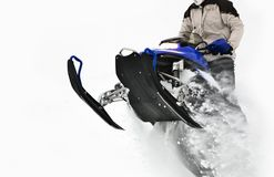 Snowmobile Jump Stock Photography