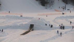 Snowmobile jumping