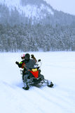 Snowmobile in Lapland Royalty Free Stock Photos
